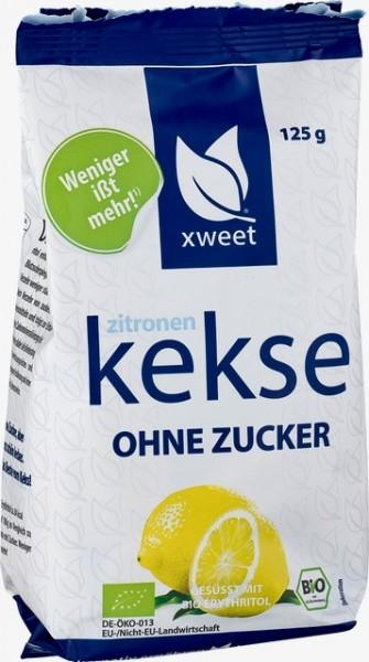 Zitronen Kekse - ohne Zucker - 125g