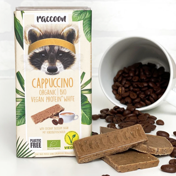 Cappuccino - weiße Bio Proteinschokolade - 40g