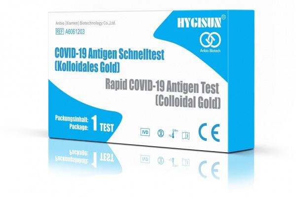 COVID-19 Corona Laientest - Speicheltest / Spucktest - HYGISUN - 1 St